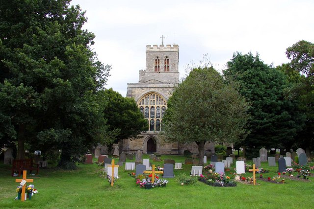 St Mary's Church and churchyard in Thame
