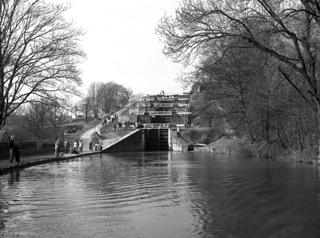 Five Rise Locks, Bingley, Leeds and Liverpool Canal
