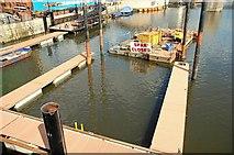 J3474 : New pontoon, Belfast (2) by Albert Bridge