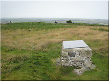 SW9462 : Viewpoint indicator board in the centre of Castle An Dinas hill fort by Rod Allday