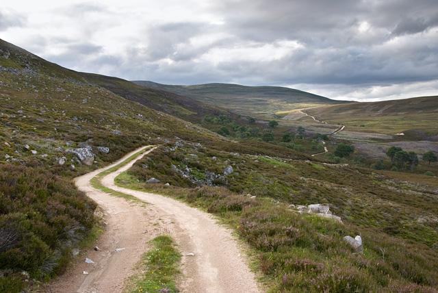 The track from Glen Gairn to Invercauld