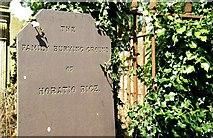 J3267 : Headstone, Holy Trinity, Drumbo near Belfast by Albert Bridge