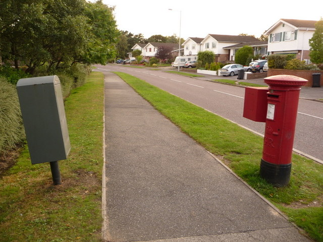 Canford Heath: postbox № BH17 50, Tollerford Road