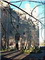 NY8362 : Main Door of Langley Castle by Russel Wills
