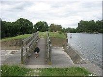 SP9113 : The Spillway, Tringford Reservoir by Chris Reynolds