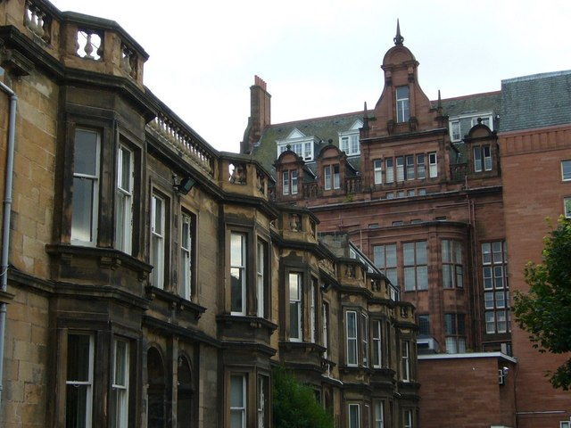 Royal Hospital for Sick Children from Rillbank Terrace