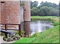 NY0265 : The moat at Caerlaverock Castle by Ann Cook