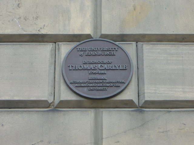 Thomas Carlyle plaque, Buccleuch Place