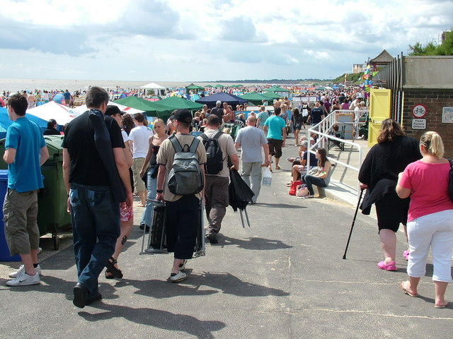 Spectators for Air Show, Lowestoft South Beach by John Goldsmith