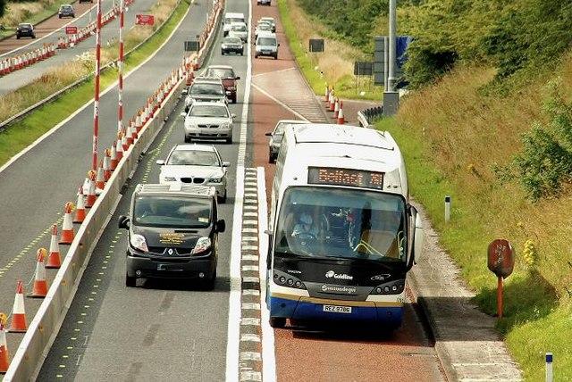 Motorway coach near Lisburn (2)