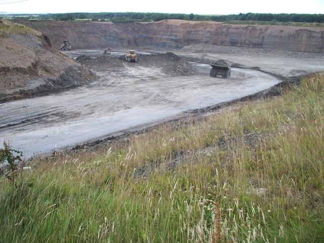 Stobswood Opencast coal mine