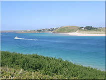 SW9276 : Looking across the River Camel estuary by Nick Mutton