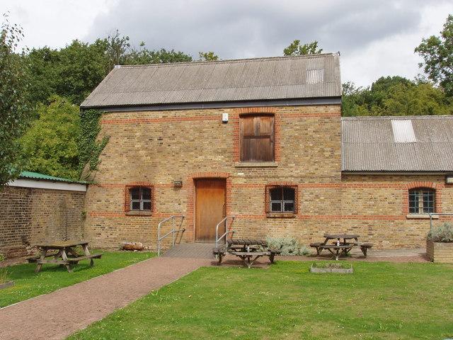 Picnic tables, Horsenden Hill visitor centre