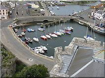 SC2667 : Castletown harbour by Dave Pickersgill