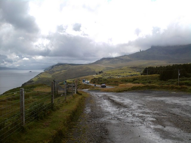 Looking south on the old A855 at Rigg