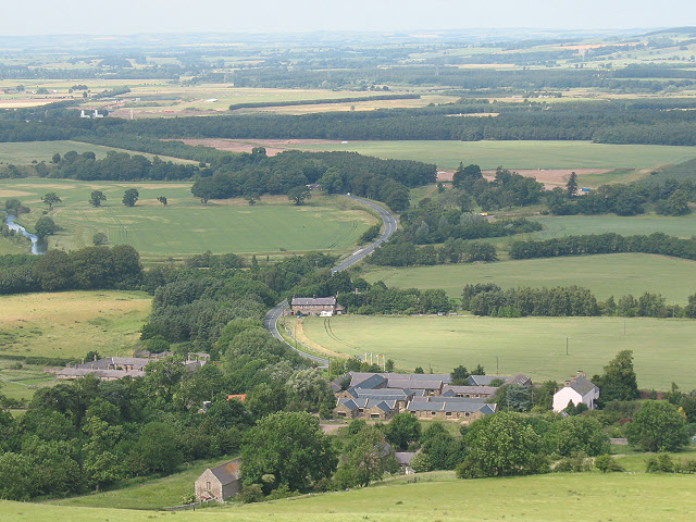 View over Akeld from the south