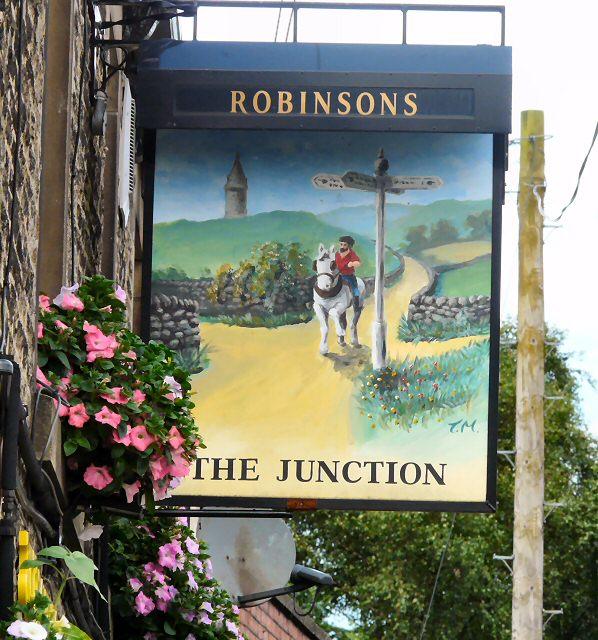 Sign for the Junction Inn