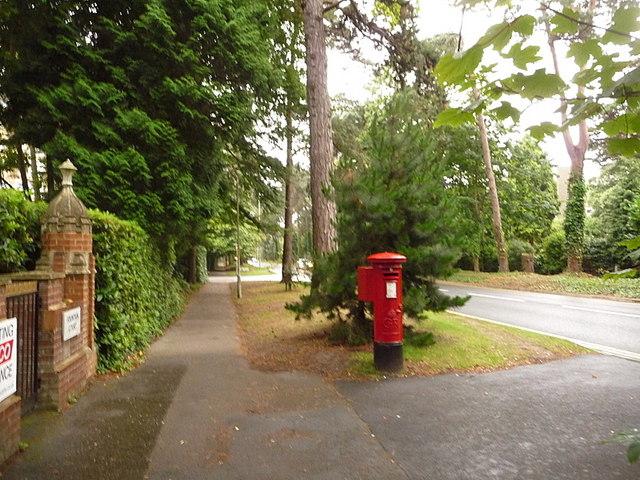 Branksome: postbox № BH13 9, The Avenue