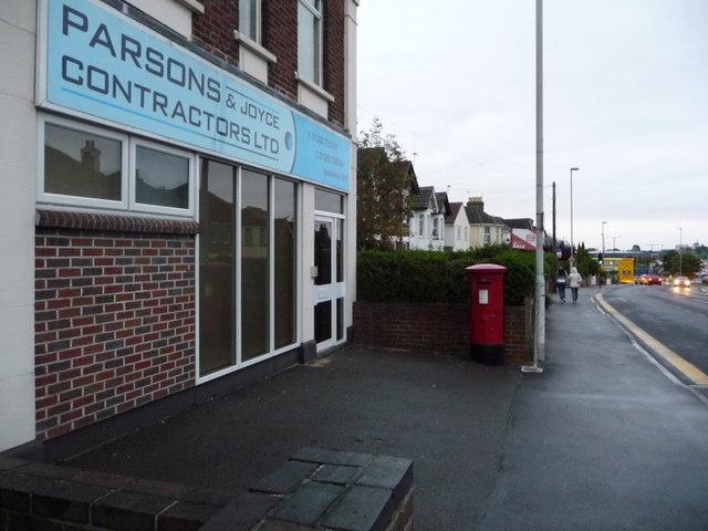 Parkstone: postbox № BH14 26, Ashley Road
