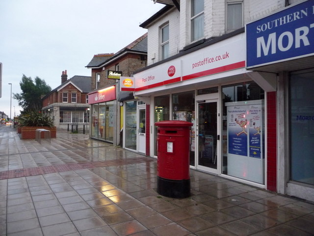 Parkstone: Ashley Road West Post Office and postbox № BH14 12