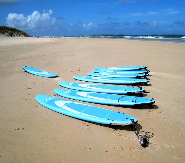 Surfboards on the beach