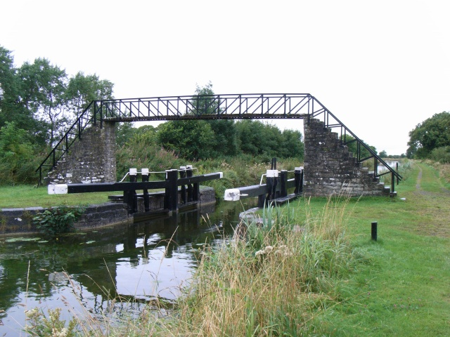 The Ribbontail Bridge & Guard Lock on the Royal Canal near Longwood, Co. Meath