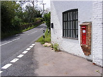 TM3464 : B1119 Low Road & Suffolk Kinsman Victorian Postbox by Adrian Cable