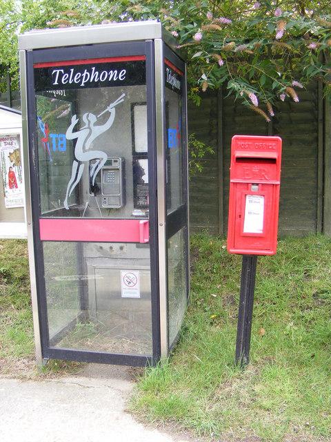 Telephone Box & Main Street Postbox