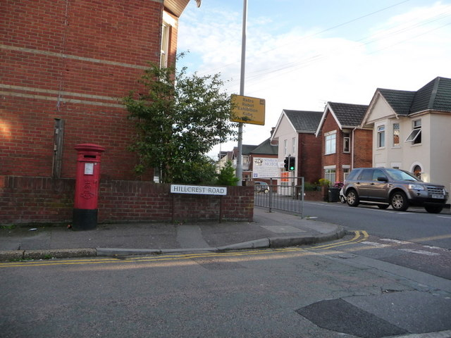 Parkstone: postbox № BH12 11, Hillcrest Road