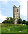 TM2684 : St Mary's church - the tower by Evelyn Simak