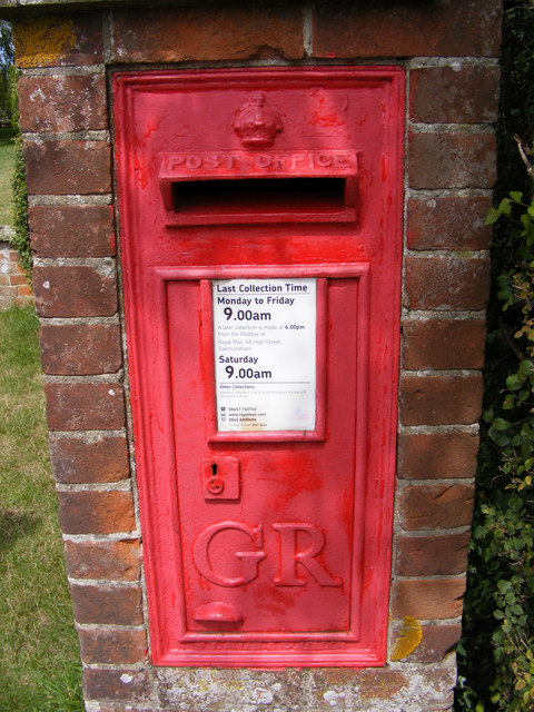 George V Postbox Church Common
