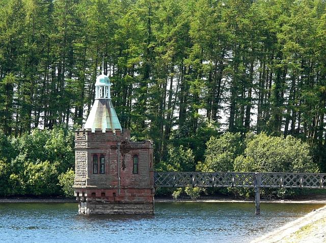 The valve tower, Castle Carrock Reservoir