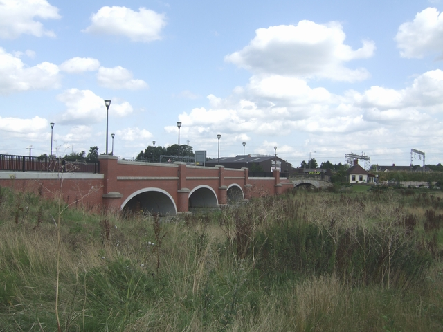Flood arches beside the River Trent - Station Road
