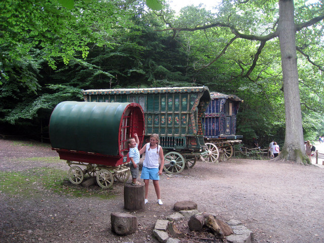 Gypsy Caravans in the Enchanted Forest, Groombridge Place