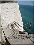 TQ4200 : Steps leading to Undercliff Walk by Paul Gillett