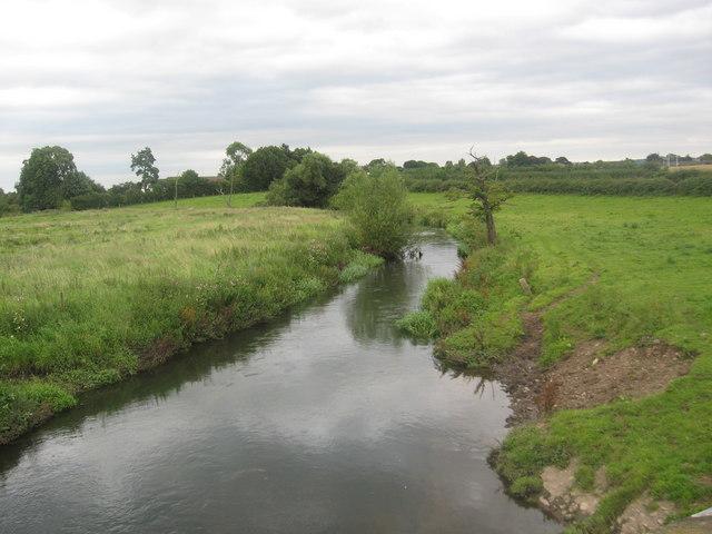 The River Penk from Cuttlestone Bridge
