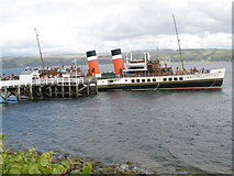 NS1981 : Paddle steamer Waverley about to leave Blairmore pier by John Ferguson