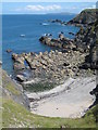 SW5843 : Mutton Cove near Godrevy Point by Rod Allday
