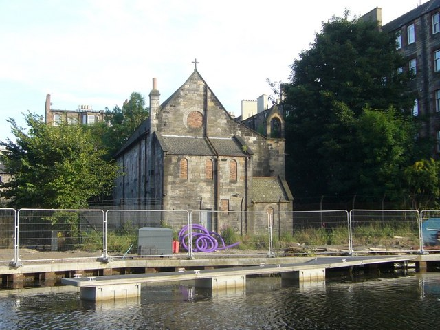 Former St. Kentigern's Church, Union Canal at Viewforth