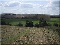 SU1068 : Permissive footpath down Waden Hill by Sarah Charlesworth