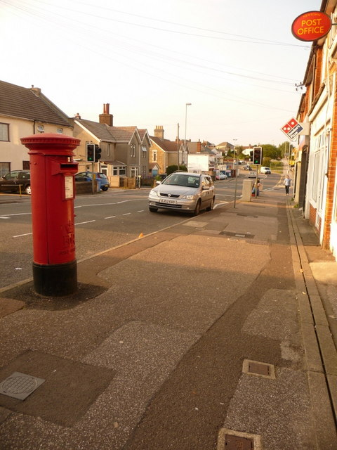 Newtown: postbox № BH12 45, Sea View Road