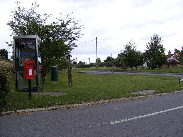 Mill Road Postbox & Telephone Box