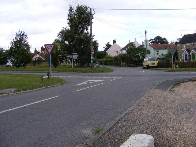 Mill Road at Friston Crossroads