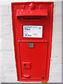 TM3863 : Railway Station Victorian Postbox by Geographer