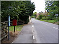 TM3961 : B1121 The Street & Sternfield Street Postbox by Geographer
