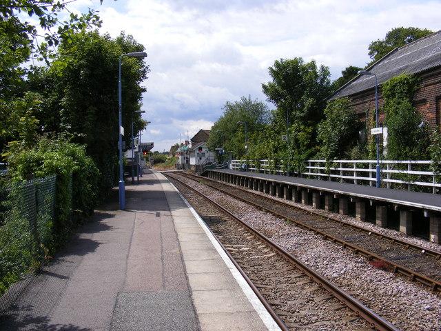 Platform at Saxmundham Railway Station