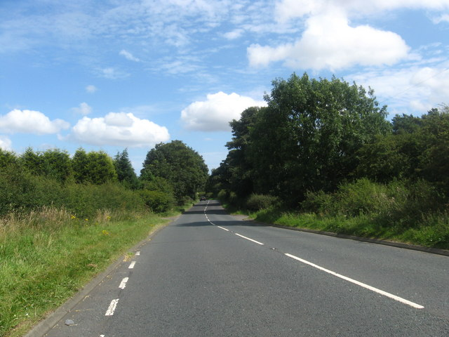 Minor road heading for Morpeth