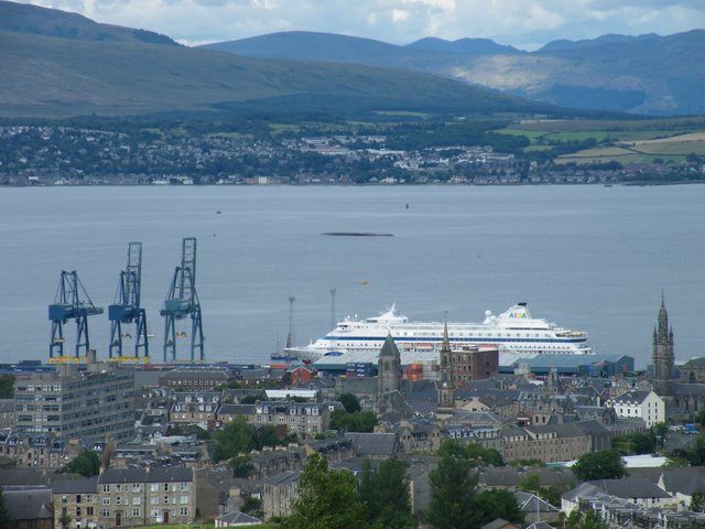Greenock and the Clyde from Overton