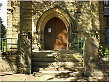 SE0824 : The Parish Church of St Jude, Halifax, Doorway by Alexander P Kapp