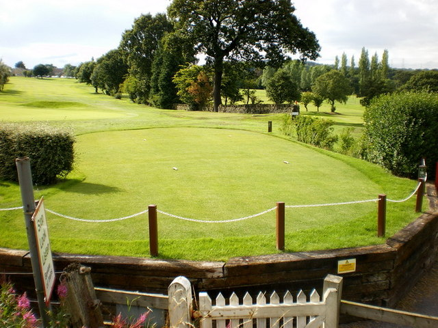 The 18th tee at Lightcliffe Golf Course